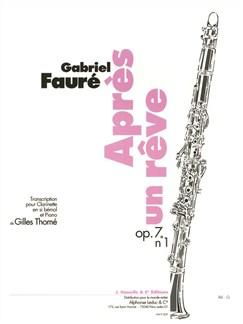 Faure: Après un reve pour Clarinette en si bémol et Piano Livre | Clarinette