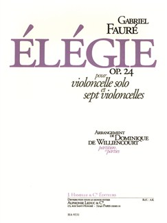Faure: Élegie op. 24 pour violoncelle solo et sept violoncelles Books | String Ensemble