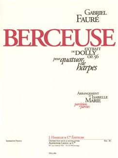 Faure: Berceuse Extrait De Dolly Op.56 Pour Quatuor De Harpes Books   Harp