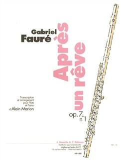 Gabriel Fauré: Apres Un Reve Op.7 No.1 (Flute/Piano) (Marion) Books | Flute, Piano Accompaniment
