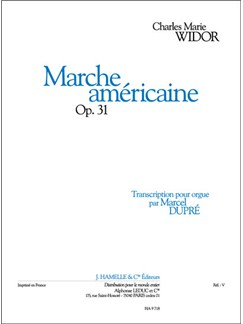 Widor: Marche Americaine Op.31 Transcription Pour Orgue De Marcel Dupre Books |