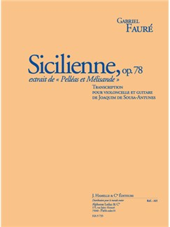 Gabriel Fauré: Sicilienne Op.78 (Cello/Guitar) (Sousa-Antunes) Books | Cello, Guitar