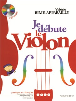 Valérie Bime-Apparailly : Je Débute le Violon (avec CD) Livre | Violon
