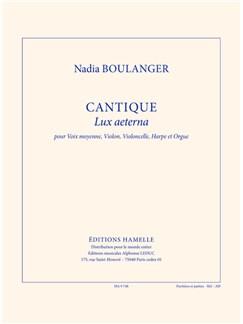 Nadia Boulanger: Cantique 'Lux Aeterna' (Score/Parts) Books | Medium Voice, Violin, Cello, Harp, Organ Accompaniment