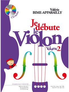 Valérie Bime-Apparailly : Je Débute le Violon - Volume 2 (avec CD) Livre | Violon