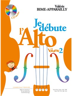Valérie Bime-Apparailly: Je Débute L'Alto Vol. 2 (Book) Livre | Viola