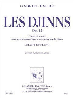 Gabriel Fauré: Les Djinns Op.12 (Vocal Score) Books | SATB, Piano Accompaniment