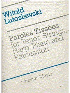 Witold Lutoslawski: Paroles Tissees (Score) Books | Tenor, String Instruments, Piano Chamber, Harp, Percussion