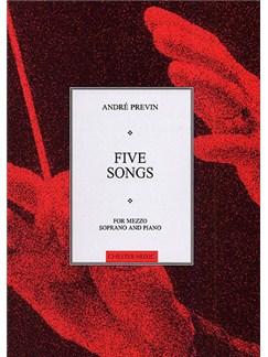Andre Previn: Five Songs For Mezzo Soprano And Piano Books | Mezzo Soprano and Piano
