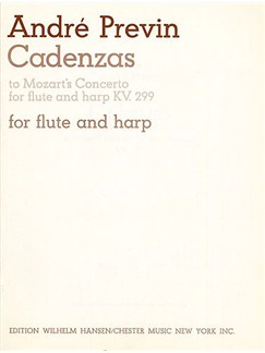 W.A. Mozart/Andre Previn: Cadenzas (Concerto For Flute And Harp K.299) Books | Flute, Harp