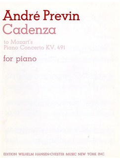 Previn: Cadenza To Mozart's Piano Concerto In C Minor K.491 Books | Piano