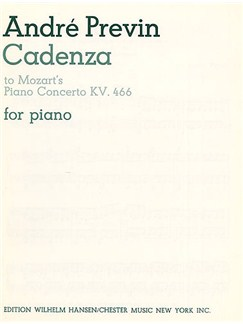 W.A. Mozart/Andre Previn: Cadenza (Third Movement - Piano Concerto In D Minor K.466) Books | Piano