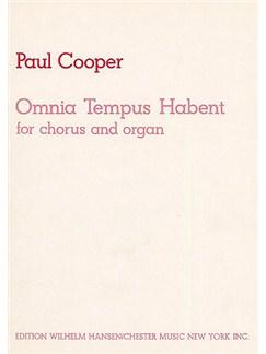 Paul Cooper: Omnia Tempus Habent Books | SATB, Organ Accompaniment