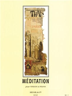 Massenet: Thais meditation violon et Piano Livre | Violon