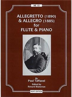 Paul Taffanel: Allegretto and Allegro (Flute & Piano) Books | Flute, Piano Accompaniment