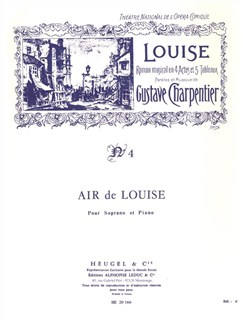 Gustave Charpentier: Air De 'Louise' No.4 (Soprano/Piano) Books | Soprano, Piano Accompaniment