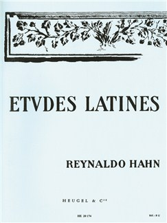 Reynaldo Hahn: Études Latines For Voices And Piano Books | Unison Voices, Choir, Piano Accompaniment