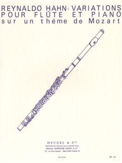 Reynaldo Hahn: Variations Sur Un Thème De Mozart Books | Flute