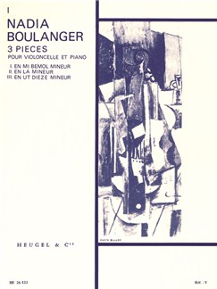 Nadia Boulanger: Trois Pièces No.1 In E Flat Minor (Cello/Piano) Books | Cello, Piano Accompaniment