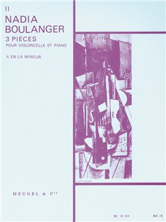 Nadia Boulanger: Trois Pièces No.2 In A Minor (Cello/Piano) Books | Cello, Piano Accompaniment