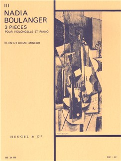 Nadia Boulanger: 3 Pieces - No. 3 In C Sharp Minor (Cello & Piano) Books | Cello, Piano