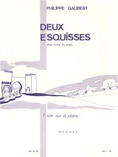 Philippe Gaubert:: Deux Esquisses No.1 - Soir Sur La Plaine (Flute/Piano) Books | Flute, Piano Accompaniment