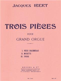 Jacques Ibert: Trois Pièces (Organ) Books | Organ