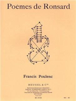 Francis Poulenc: Poèmes De Ronsard (Med) (Voice & Piano) Books | Voice