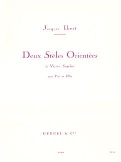 Jacques Ibert: 2 Stèles Orientées (Med) (Voice & 1 Instrument) Books | Voice