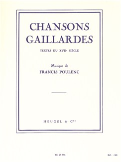 Francis Poulenc: Chansons Gaillardes Books | Baritone Voice, Piano Accompaniment
