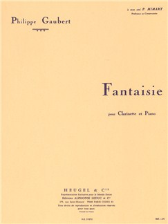 Philippe Gaubert: Fantaisie For Clarinet And Piano Books | Clarinet, Piano Accompaniment