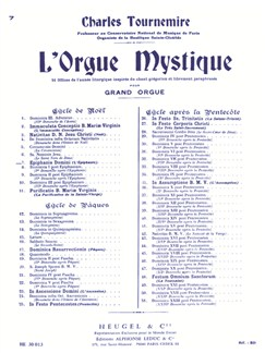 Charles Tournemire: L'Orgue Mystique Vol.7 - Epiphania Domini Books | Organ
