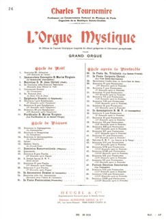 Charles Tournemire: L'Orgue mystique Vol.26: In Festo Ss. Trinitatis (Organ) Books | Organ