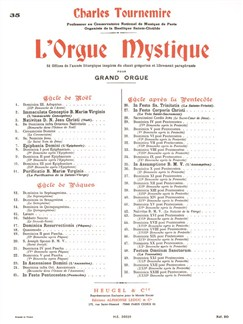 Charles Tournemire: L'Orgue Mystique Vol.35 - In Assumptione B.M.V. Buch | Orgel