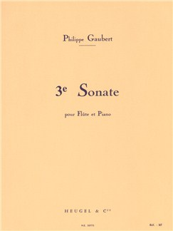 Philippe Gaubert: Sonata For Flute and Piano No.3 Books | Flute, Piano Accompaniment