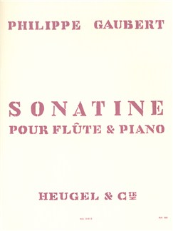Philippe Gaubert: Sonatine For Flute And Piano Books | Flute, Piano Accompaniment