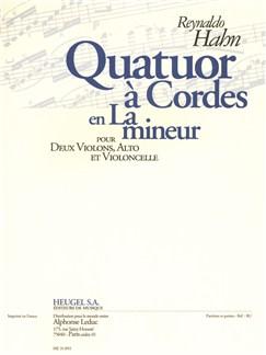 Hahn: Quatuor À Cordes En La Mineur (18'20'') Pour 2 Violons, Alto Et Violoncelle (Partition Et Parties) Books |