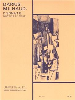 Darius Milhaud: Sonata For Viola And Piano No.1 Books | Viola, Piano Accompaniment