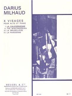 Darius Milhaud: Quatre Visages Op.238 No.1 - La Californienne (Viola/Piano) Books | Viola, Piano Accompaniment