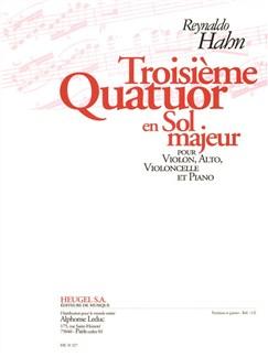 Reynaldo Hahn: Quatuor No.3 in G (Piano Quartet) Books | Violin, Viola, Cello, Piano