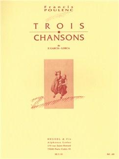 Francis Poulenc: 3 Chansons de Federico Garcia Lorca (med) (Voice & Piano) Books | Voice