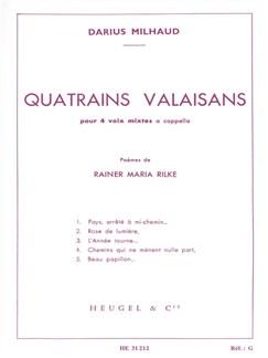 Darius Milhaud: Quatrains Valaisans Books   SATB