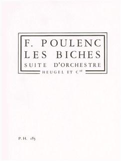 Francis Poulenc: Les Biches (Study Score) Books | Orchestra