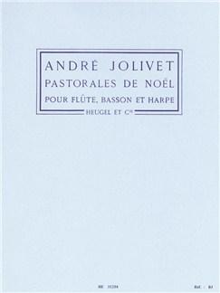 André Jolivet: Pastorales De Noël (Flute/Bassoon/Harp) (Score/Parts) Books | Flute, Bassoon, Harp