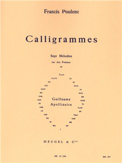 Francis Poulenc: Calligrammes, 7 Mélodies (Med) (Voice & Piano) Books   Voice