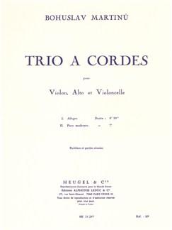 Bohuslav Martinu: Trio À Cordes No.1 H136 (Score/Parts) Books | Violin, Viola, Cello