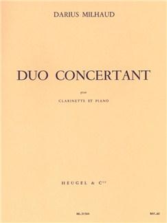 Darius Milhaud - Duo Concertant Pour Clarinette Et Piano Books | Clarinet, Score