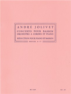 André Jolivet - Concerto Pour Basson, Orchestre À Cordes Et Piano (Version Pour Piano Et Basson) Books | Bassoon, Piano, Score
