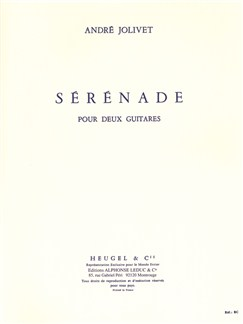 André Jolivet: Sérénade (Guitars 2) Books |