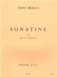 Darius Milhaud: Sonatine Op.378 (Viola & Cello) Books | Viola